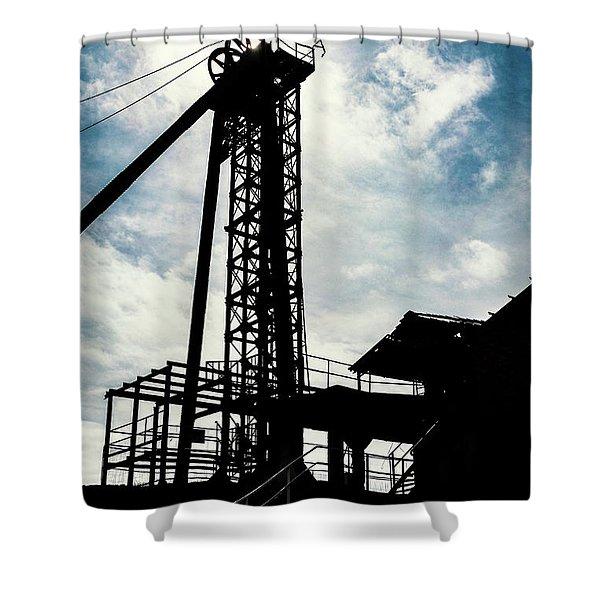 Mining Site Shower Curtain