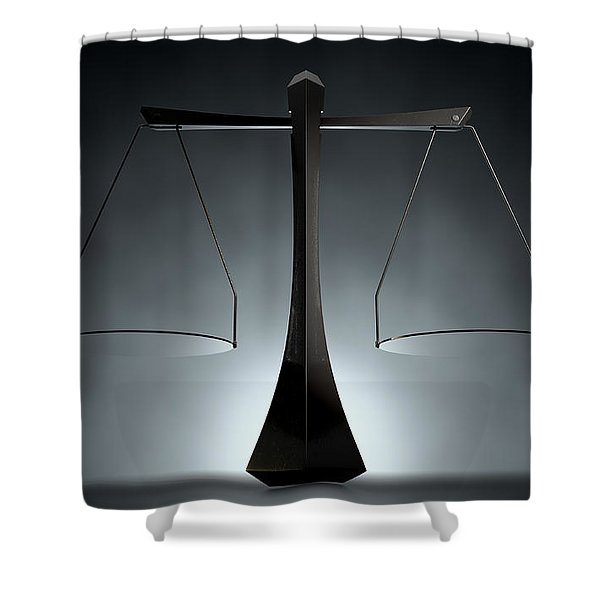 Modern Scales Of Justice Shower Curtain