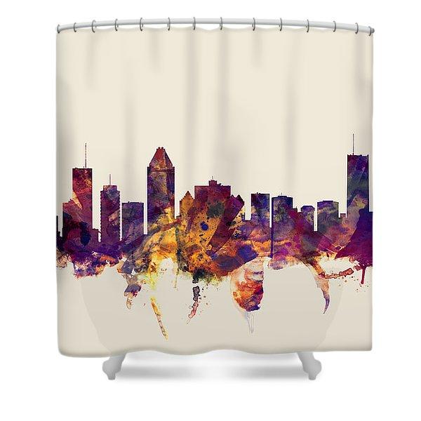 Montreal Canada Skyline Shower Curtain