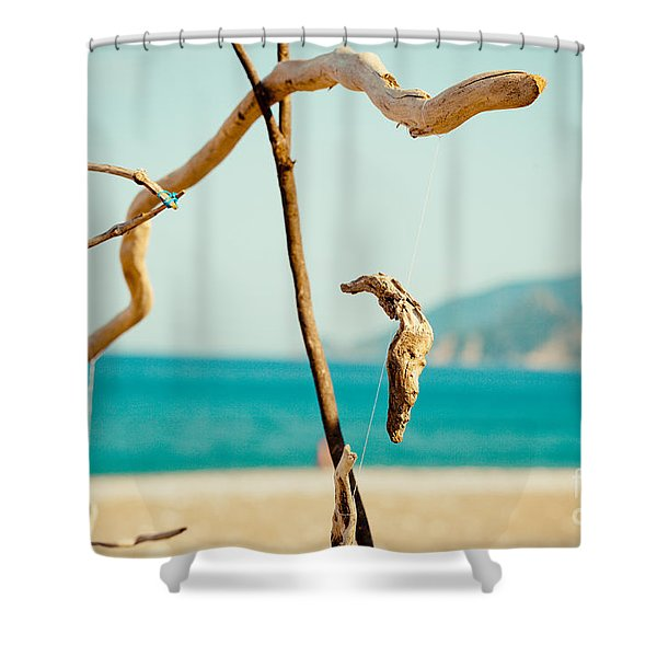 Nature Sculpture At Coast Seascape Artmif.lv Shower Curtain