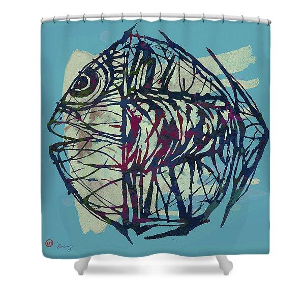 New Pop Art Tropical - Fish Poster Shower Curtain