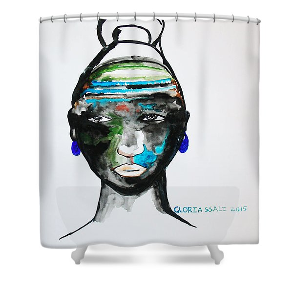 Nuer Bride - South Sudan Shower Curtain