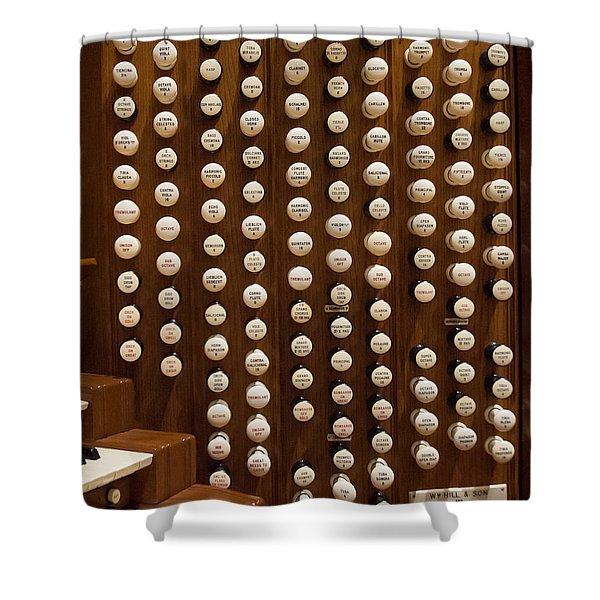 Organ Stops Shower Curtain