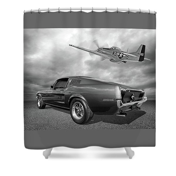 p51 With Bullitt Mustang Shower Curtain