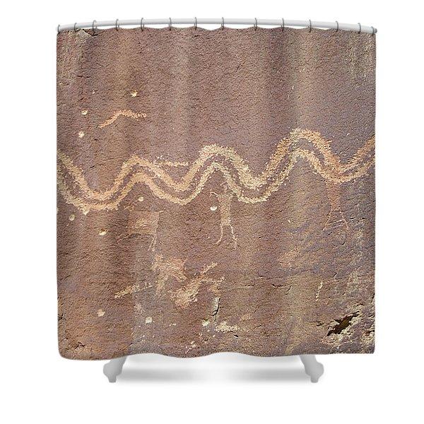 Petroglyph - Fremont Indian Shower Curtain