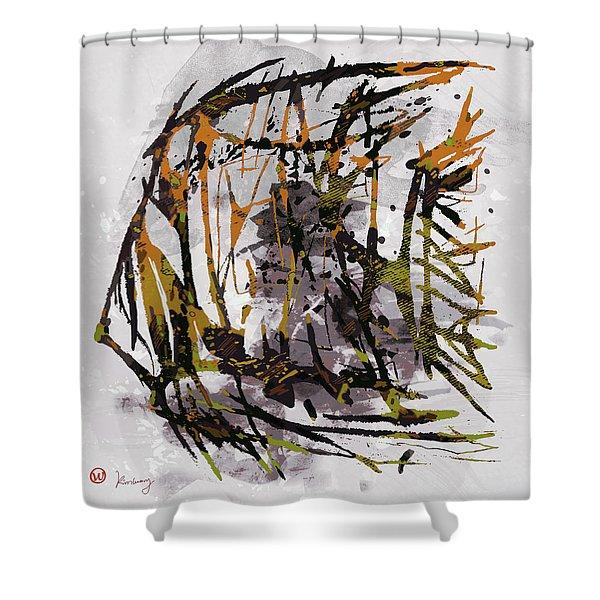 Pop Art Fish Poster Shower Curtain