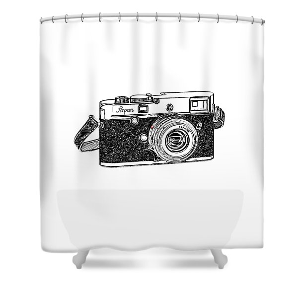 Rangefinder Camera Shower Curtain
