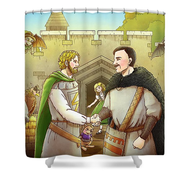 Robin Hood And The Captain Of The Guard Shower Curtain