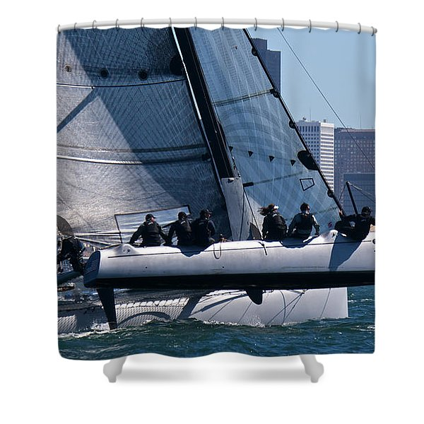 Rolex Big Boat Series Start Shower Curtain