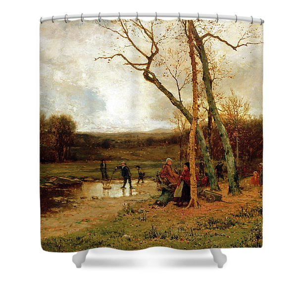 Saturday Afternoon Shower Curtain