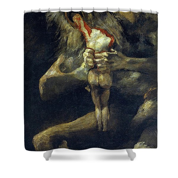 Saturn Devouring His Son Shower Curtain