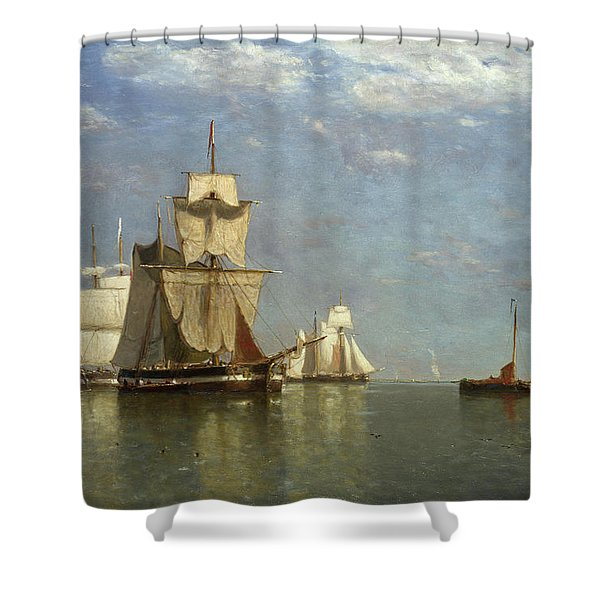 Ships Lying Off Flushing Shower Curtain