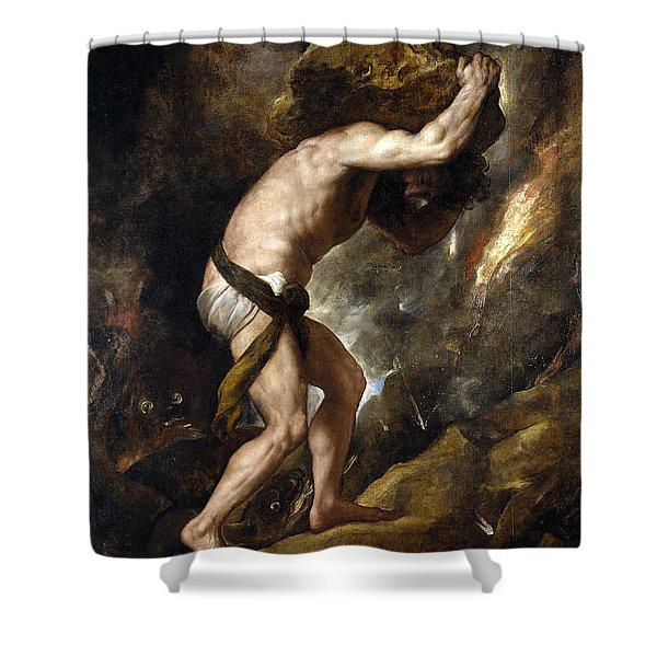 Sisyphus Shower Curtain