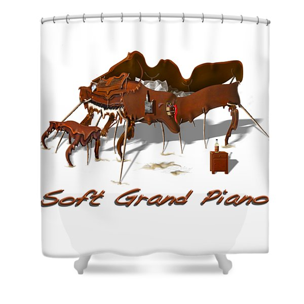 Soft Grand Piano  Shower Curtain