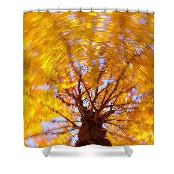 Spinning Maple Shower Curtain