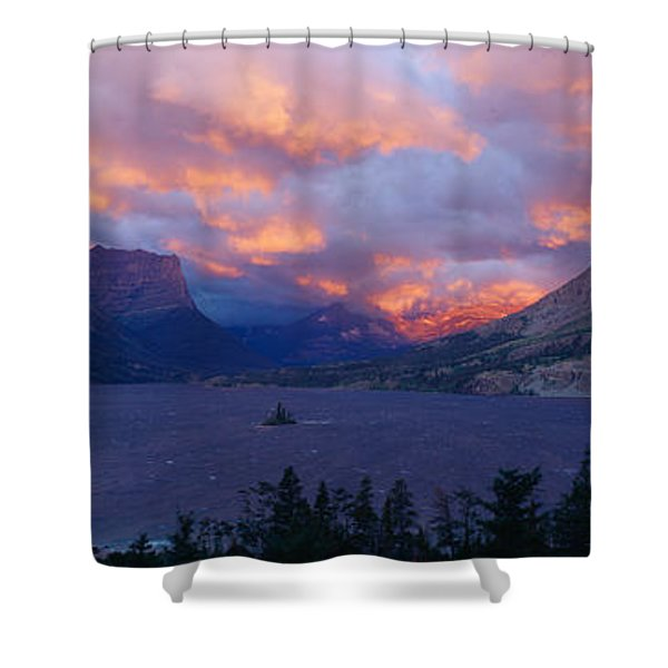 St. Mary Lake, Glacier National Park Shower Curtain