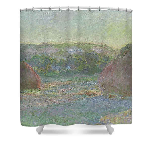 Stacks Of Wheat, End Of Summer Shower Curtain