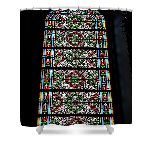 Stained Glass - Loretto Chapel - Santa Fe - New Mexico Shower Curtain