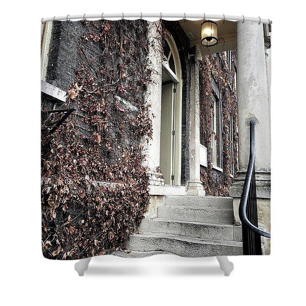 Stone Steps Detail Shower Curtain
