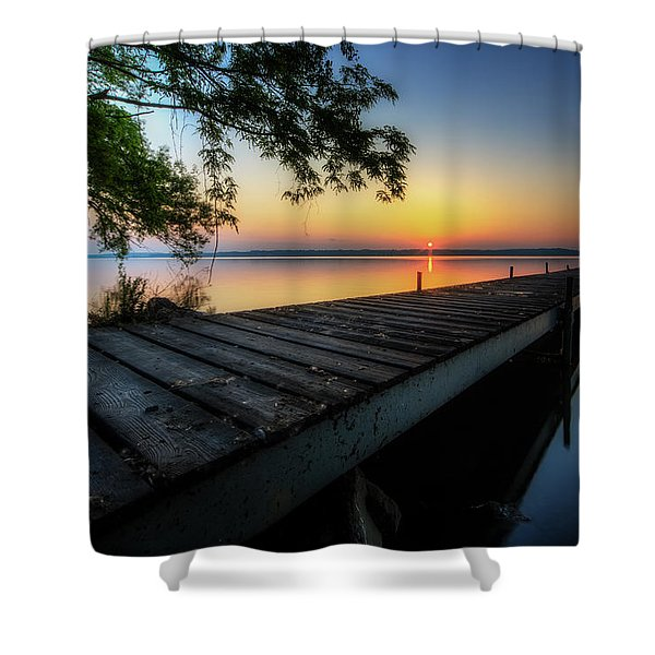 Sunrise Over Cayuga Lake Shower Curtain