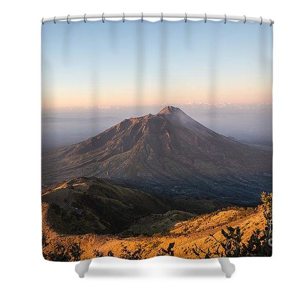 Sunrise Over Java In Indonesia Shower Curtain