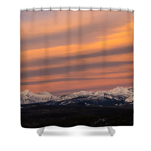 Sunset In Glacier National Park Shower Curtain