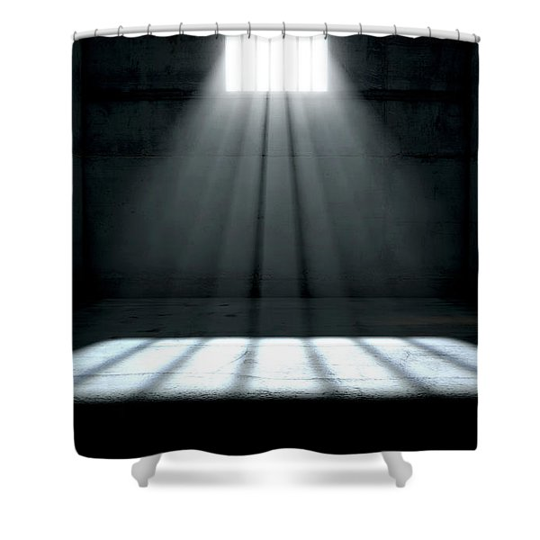 Sunshine Shining In Prison Cell Window Shower Curtain