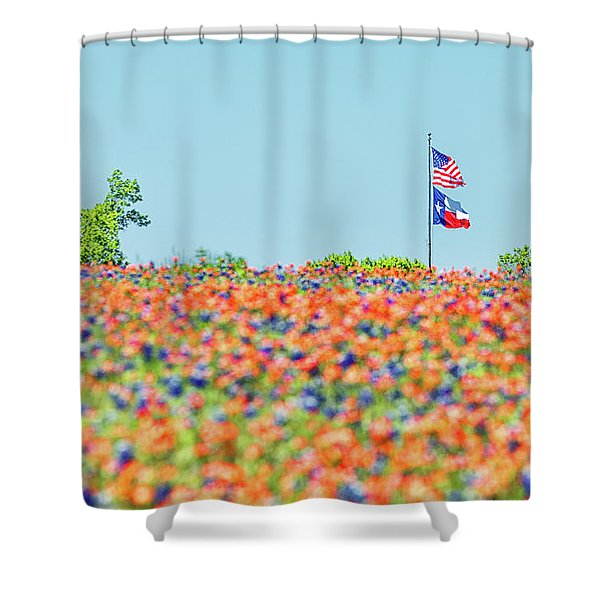 God Bless America And God Bless Texas Shower Curtain