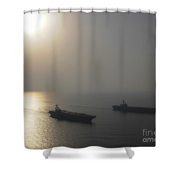The Aircraft Carrier Shower Curtain