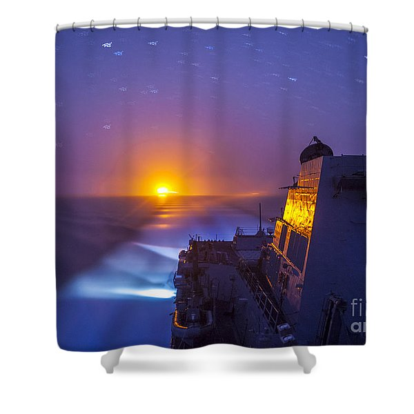 The Arleigh Burke-class Guided-missile Destroyer Shower Curtain