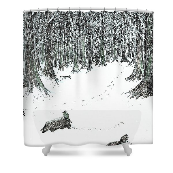 The Castle In The Forest Of Findhorn Shower Curtain