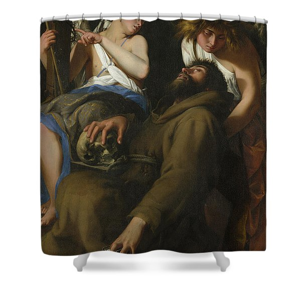 The Ecstasy Of Saint Francis Shower Curtain