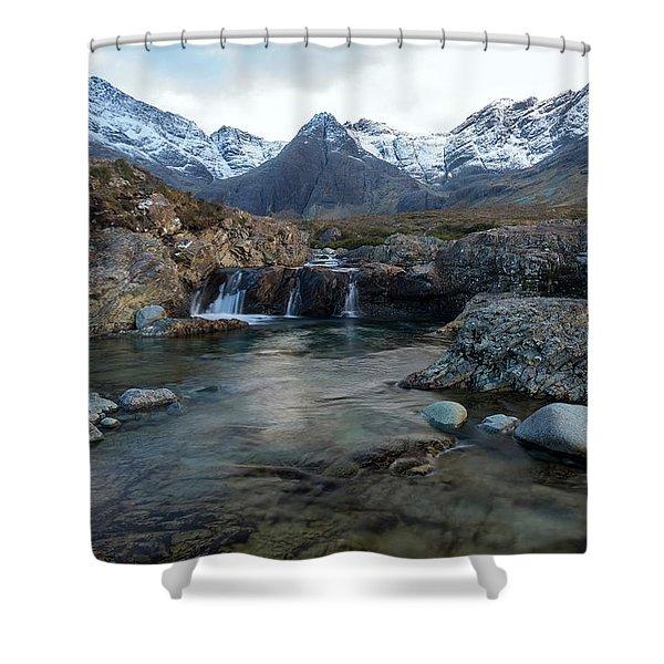 The Fairy Pools, Isle Of Skye Shower Curtain