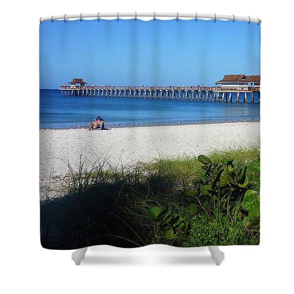 The Historic Naples Pier Shower Curtain