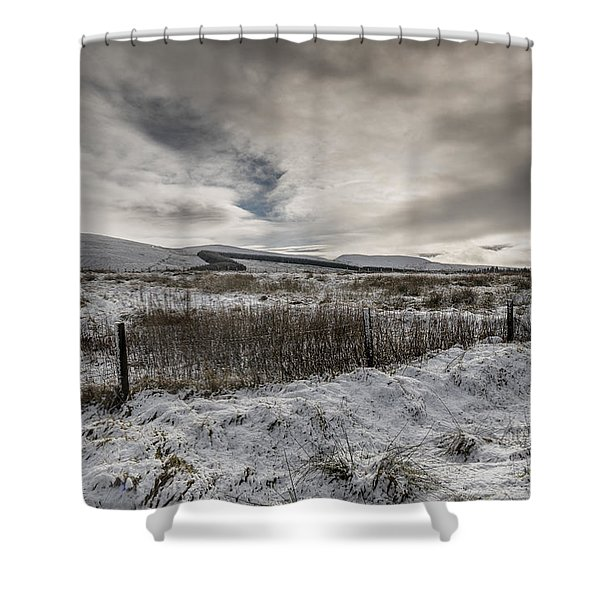 The Ochil Hills Shower Curtain