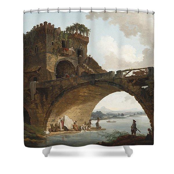 The Ponte Salario Shower Curtain