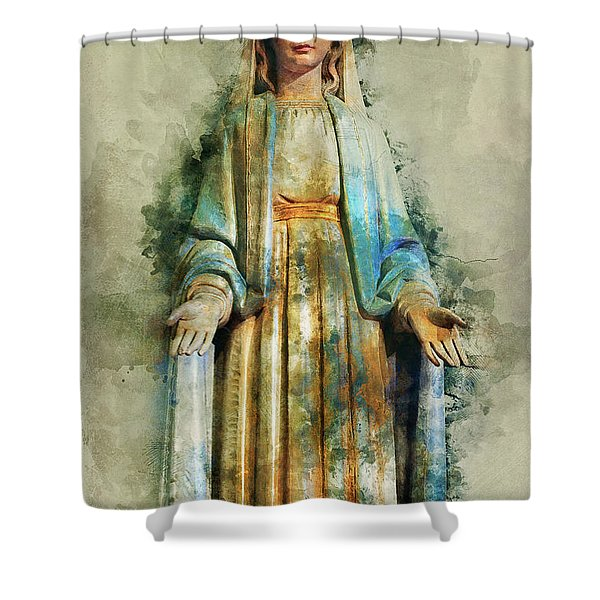The Virgin Mary Shower Curtain