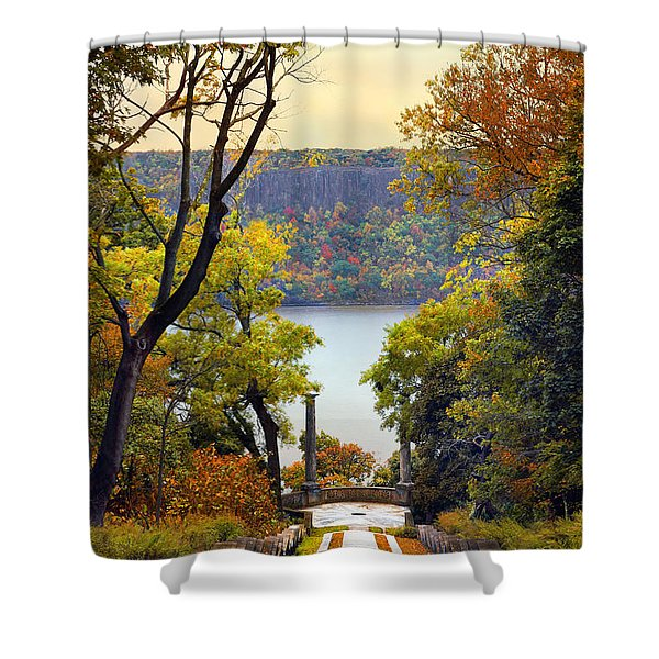 The Vista Steps Shower Curtain