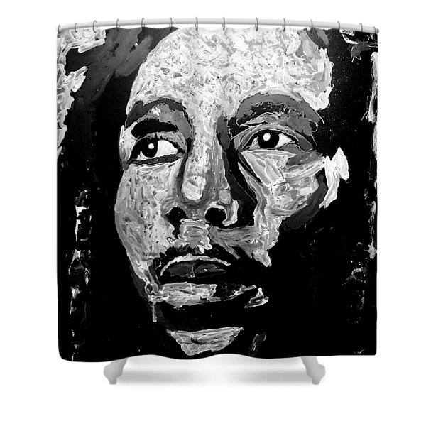 Tribute To Bob Marley Shower Curtain