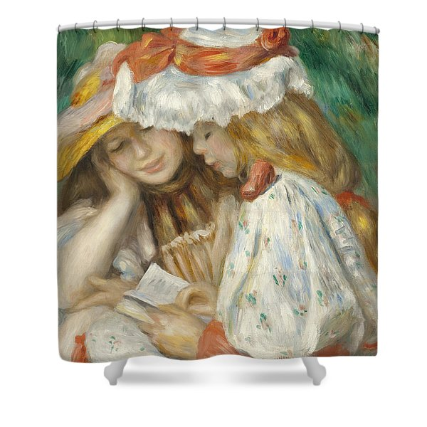 Two Girls Reading Shower Curtain