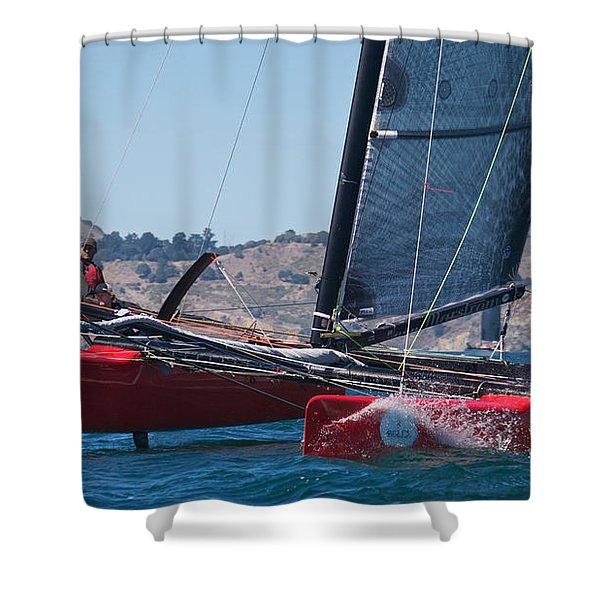 Upwind Spray Shower Curtain