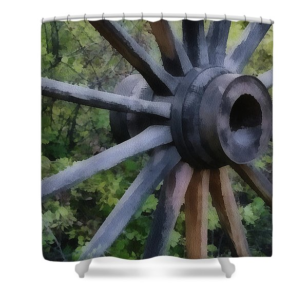 Wagon Wheel Shower Curtain