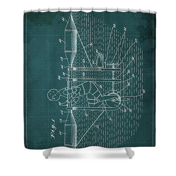 Water Bycicle Patent Blueprint Year 1920 Shower Curtain