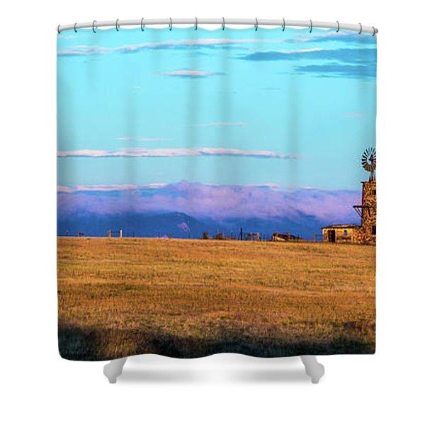 Windmill At Sunrise Shower Curtain