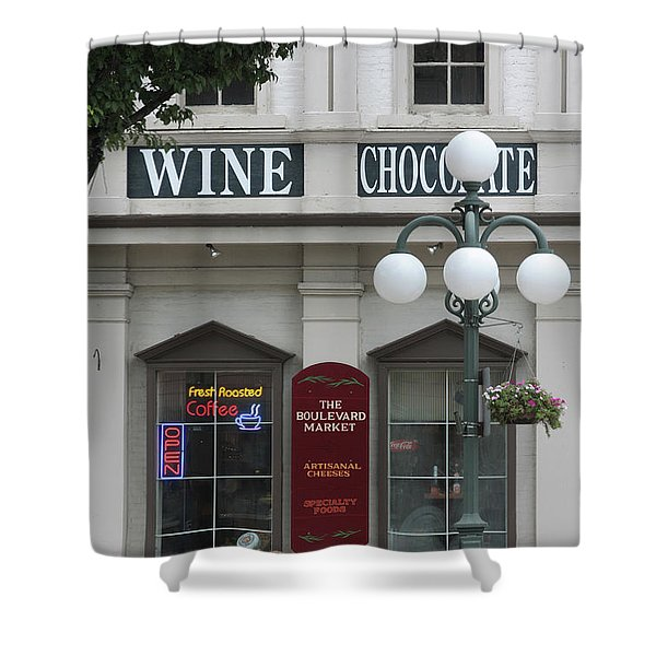 Wine And Chocolate Shower Curtain