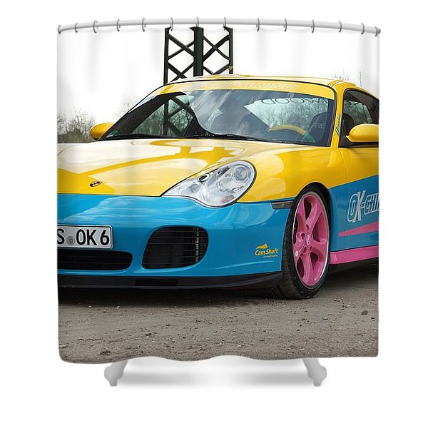 2002 Ok Chiptuning Manta Porsche 996 Turbo  1 Shower Curtain