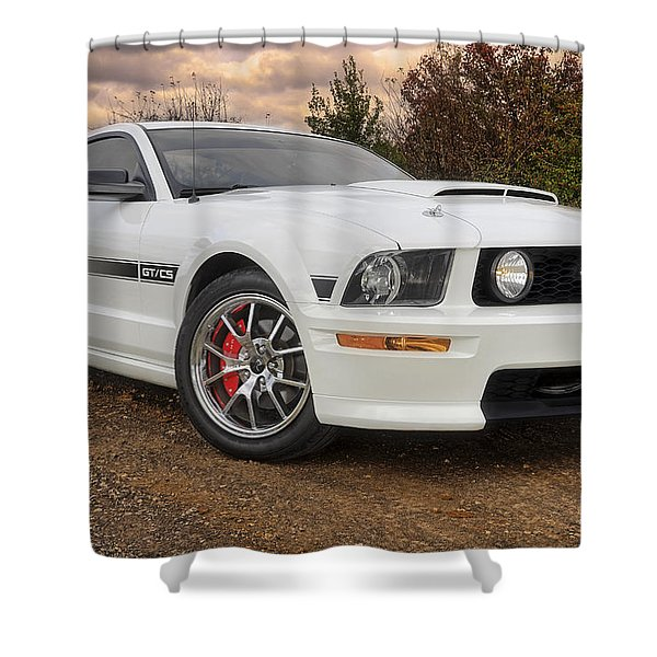 2008 Mustang Gt/cs - California Special - Sunset Shower Curtain