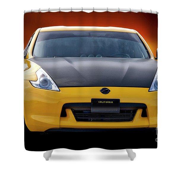 2009 Nissan 370z 'head On' I Shower Curtain