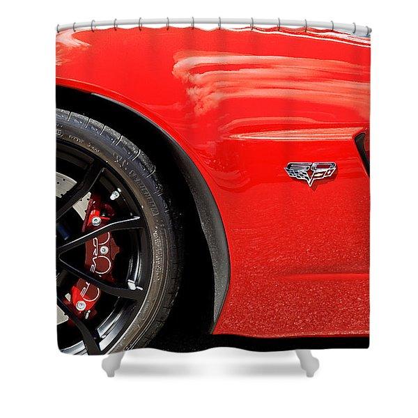 2013 Corvette Shower Curtain
