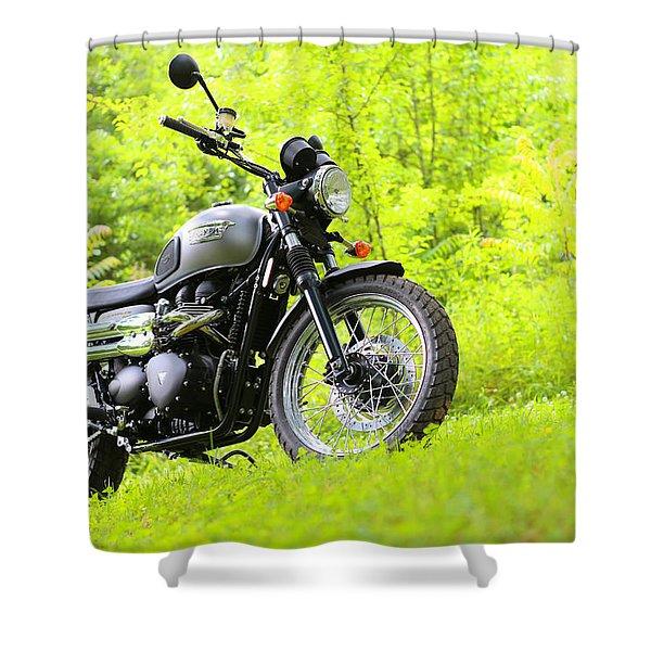 2013 Triumph Scrambler Shower Curtain